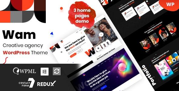 Wam - Creative Agency WordPress - Creative WordPress