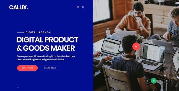 Callix - Creative Agency PSD Template