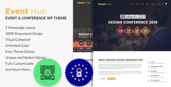Event Hub v1.1.1 – Event, Conference WordPress Theme