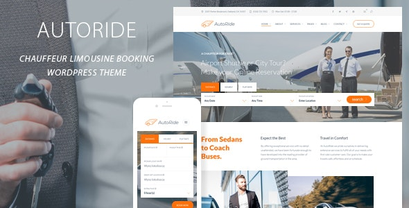AutoRide - Chauffeur Booking WordPress Theme - Business Corporate
