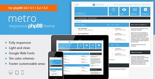 Metro — A Responsive Theme for phpBB3
