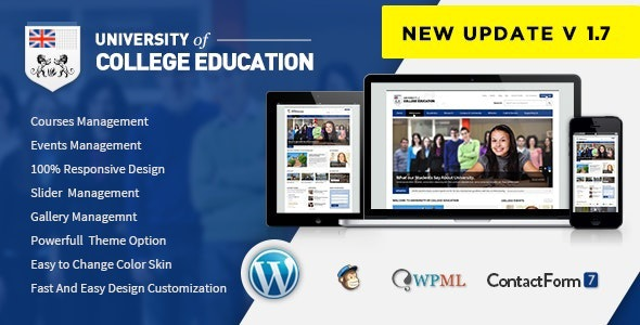 University | Education Responsive WordPress Theme - Education WordPress