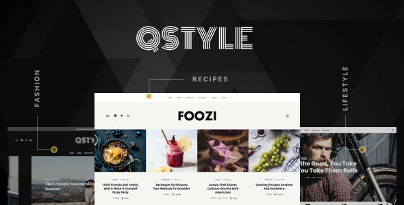 Qstyle - A WordPress Theme For Bloggers - Personal Blog / Magazine