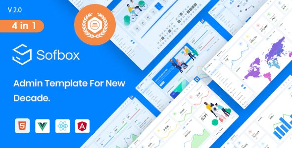 Sofbox Admin - 4 in1 Multipurpose Admin Dashboard with SoftUI - Admin Templates Site Templates