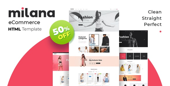 Milana - eCommerce HTML Template - Fashion Retail