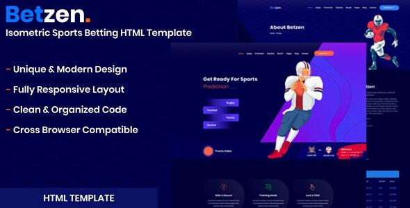 Betzen - Isometric Sports Betting HTML Template - Business Corporate