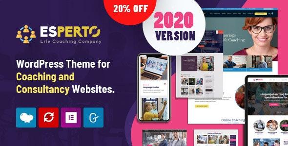 Esperto - A Consultancy and Coaching WordPress Theme - Education WordPress