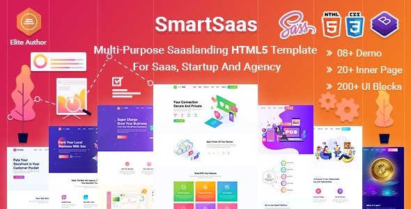 SmartSaas-Multi-Purpose Sass landing HTML5 Template  For Startup And Agency - Software Technology