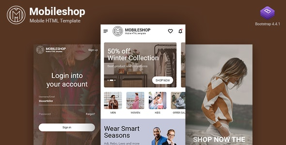 Mobileshop Multipurpose Mobile HTML template - Mobile Site Templates