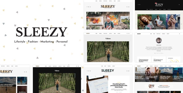 Sleezy Lifestyle - Marketing WordPress Theme - Personal Blog / Magazine