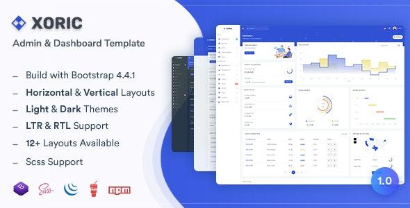 Xoric - Admin & Dashboard Template - Admin Templates Site Templates