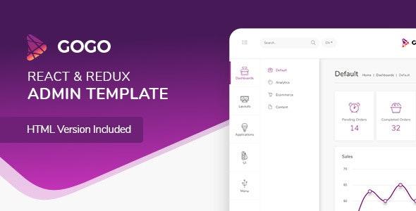 Gogo - React Admin Template - Admin Templates Site Templates