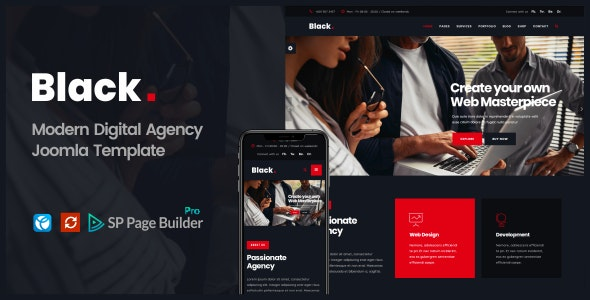 Black  -   Modern Digital Agency Business Joomla Theme - Business Corporate