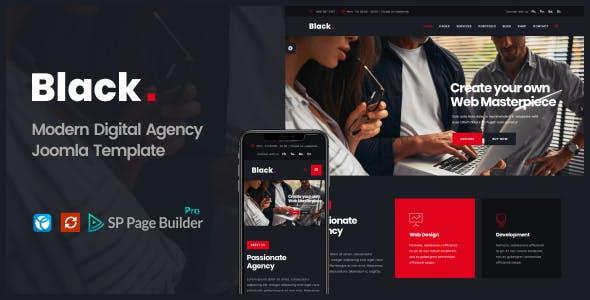 Black  -   Modern Digital Agency Business Joomla Theme