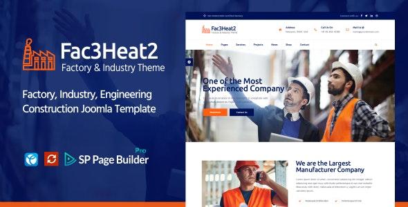 Fac3heat2 – Factory, Industry, Engineering Joomla Template - Business Corporate