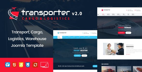 Transporter –   Transport, Logistics, Cargo Joomla Template