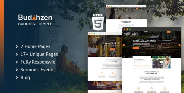 Budhzen | Buddha Temple HTML5 Template - Nonprofit Site Templates