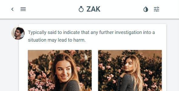 Zak: Multi Purpose Mobile Web App template (PWA)