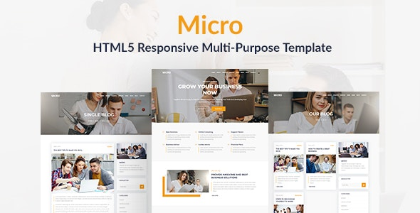 Micro - HTML5 Responsive Multi-Purpose Template - Business Corporate