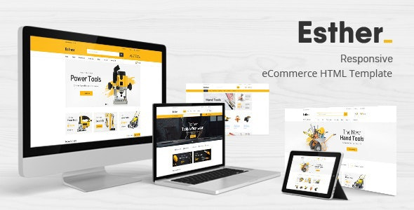 Tools & Accessories Store HTML Template - Esther - Shopping Retail