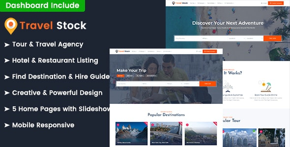 Travel Stock - Tours Listings & Booking HTML Template - Travel Retail