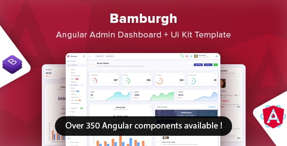 Bamburgh - Angular Bootstrap Admin Dashboard & UI Kit Template - Admin Templates Site Templates
