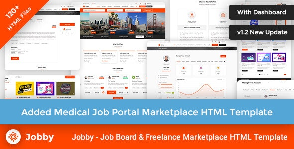Jobby - Job Portal Multi-Purpose Marketplace HTML Template - Business Corporate