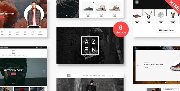 Azen - Clean, Minimal Shop HTML5 Template - Shopping Retail