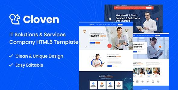 Cloven -  IT Solutions And Services Company HTML5 Template - Business Corporate