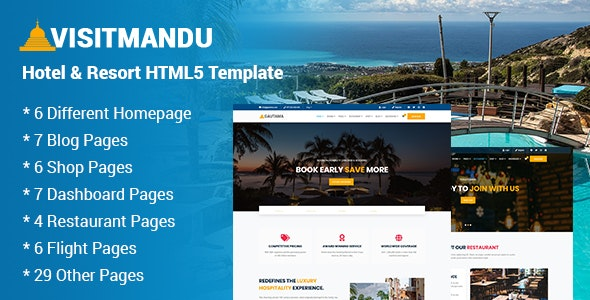 Visitmandu - Hotel & Resort HTML5 Template - Travel Retail