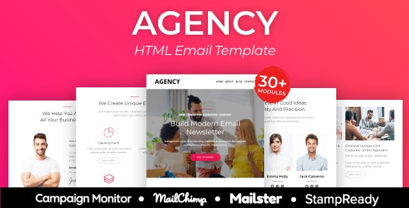 Agency - Multipurpose Responsive Email Template - Newsletters Email Templates