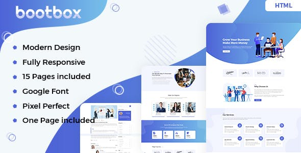 Bootbox – Agency HTML Template