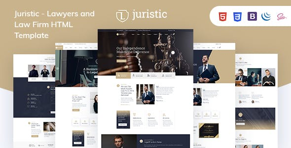 Juristic - Lawyers and Law Firm HTML Template