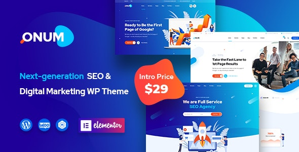 Onum - SEO & Marketing Elementor WordPress Theme - Marketing Corporate