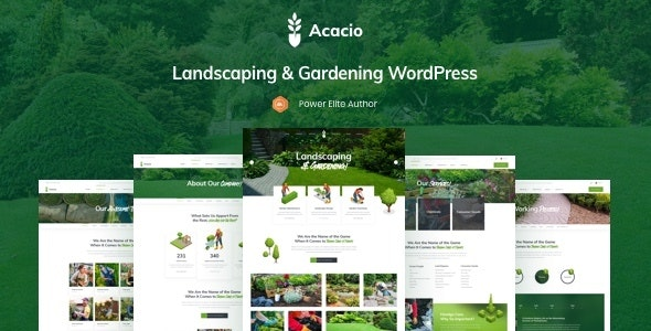 Acacio - Landscaping & Gardening WordPress - Business Corporate