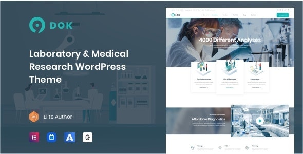 Ninedok - Laboratory & Research WordPress Theme - Business Corporate
