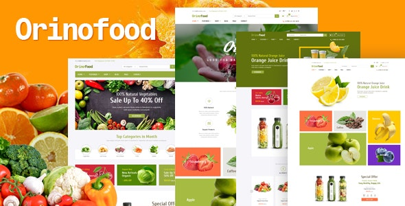 Orinofood - Organic Opencart Theme (Included Color Swatches) - Health & Beauty OpenCart