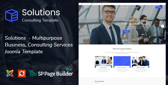 Solutions - Business Consulting Joomla Template - Business Corporate