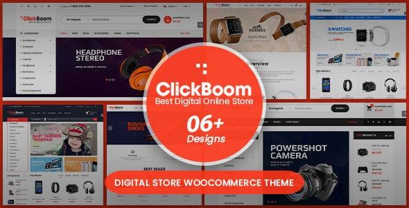 ClickBoom - Digital Store WooCommerce WordPress Theme (6+ Homepage Designs) - WooCommerce eCommerce