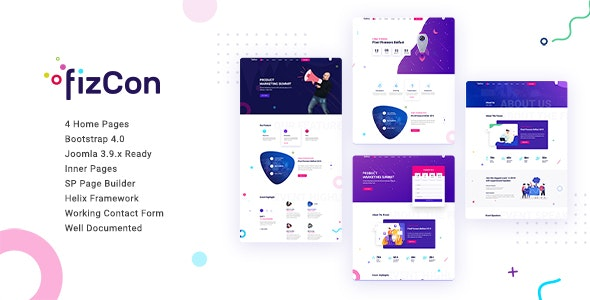 Fizcon – Event Joomla Template - Events Entertainment