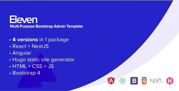 Eleven Multi-Purpose Bootstrap Admin Template