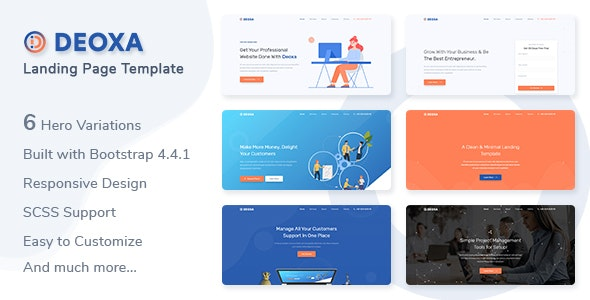 Deoxa - Landing Page Template - Landing Pages Marketing