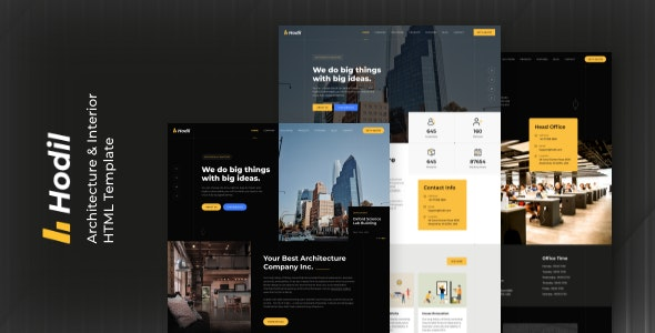 Hodil - Architecture And Interior HTML Template - Business Corporate