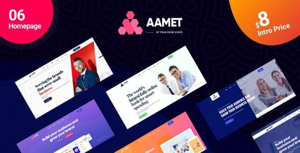Aamet - Business Corporate Multipurpose Template