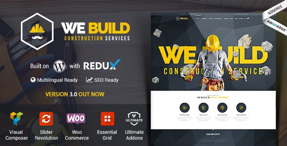 We Build - Construction WordPress Theme - Business Corporate