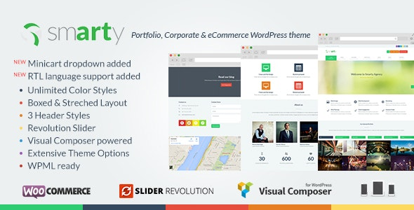 Smarty Portfolio & Shop WordPress Theme - WooCommerce eCommerce
