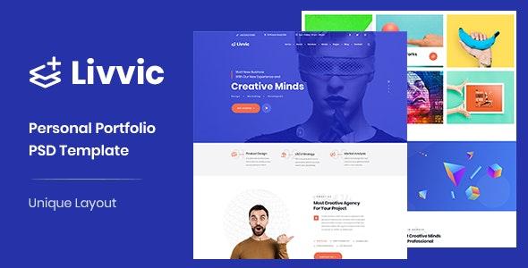 Livvic - Personal Portfolio PSD Template - Portfolio Creative