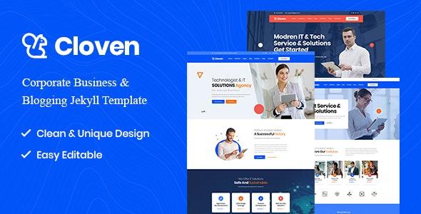 Cloven - Corporate Business & Blogging Jekyll Template - Jekyll Static Site Generators