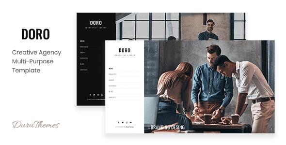DORO - Creative Agency Multi-Purpose Template - Creative Site Templates