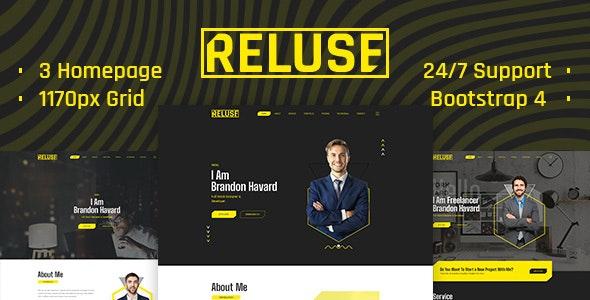 Reluse - Personal Portfolio PSD Template - Creative PSD Templates
